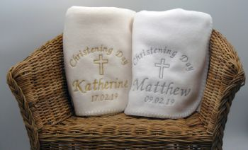 Personalised Christening Blankets